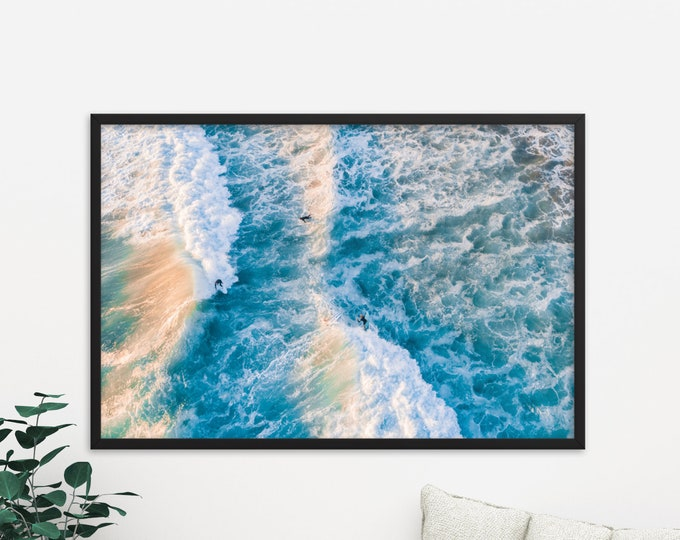 Frothy, Photography, Large Art Prints, Large Art Photography, Large Wall Art, Extra Large Wall Art, Beach, Sunset