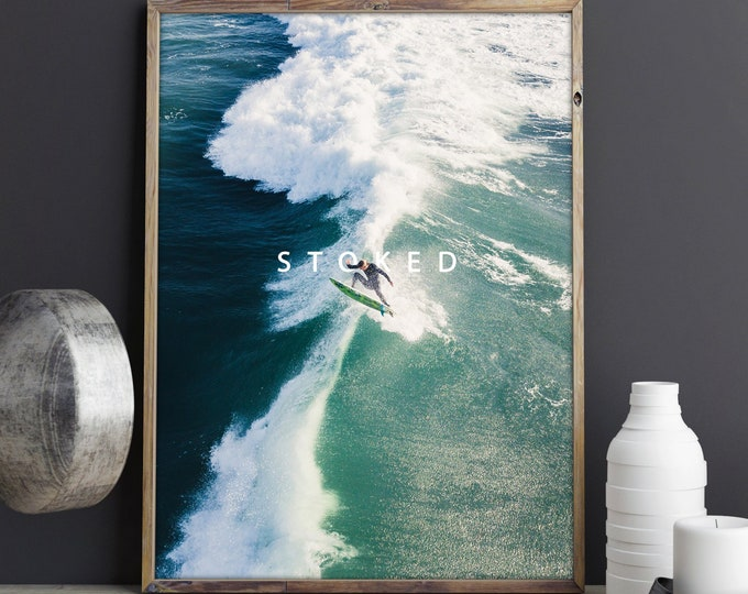 Stoked, Surf Aerial Photography, Drone Photography, Large Art Prints, Large Art Photography, Large Wall Art, Extra Large Wall Art