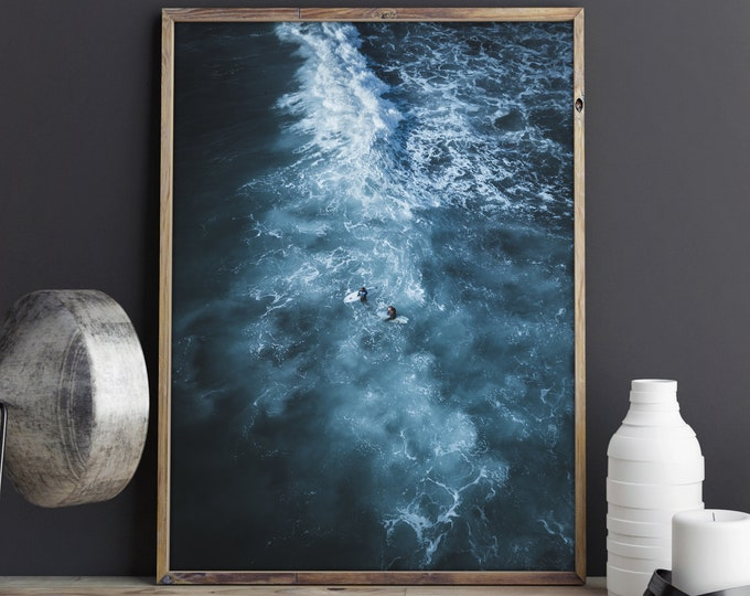 Featured listing image: Stormy Waters, Aerial Drone Photography, Large Art Prints, Large Art Photography, Large Wall Art, Extra Large Wall Art, Large Wall Decor