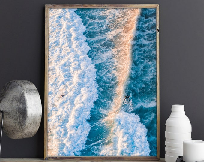Frothy, Surf Aerial Photography, Drone Photography, Large Art Prints, Large Art Photography, Large Wall Art, Extra Large Wall Art