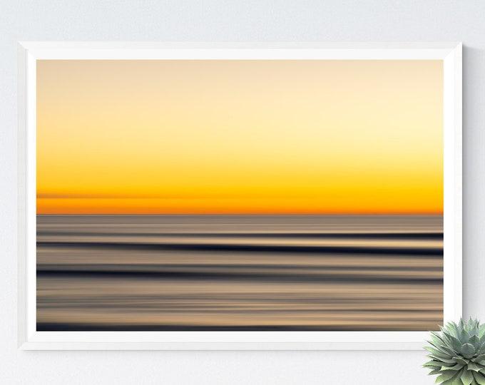 Golden Horizon, Sunset Ocean Photography, Ocean Print, Large Art Prints, Large Art Photography, Large Wall Art, Extra Large Wall Art