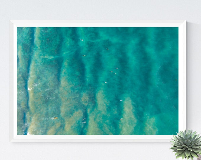 Tropic Paddle Out, Ocean Photography, Large Art Prints, Large Art Photography, Large Wall Art, Extra Large Wall Art, Water