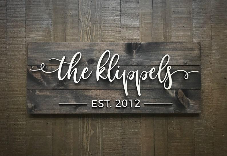 Pallet Sign / Last Name Sign / Custom Wood Sign / Established image 0