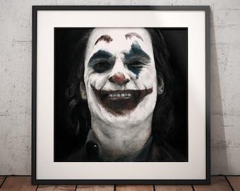 The Joker artwork - Original Joaquin Phoenix realistic pencil portrait - Signed - Batman - Harley Quinn - Christmas gift