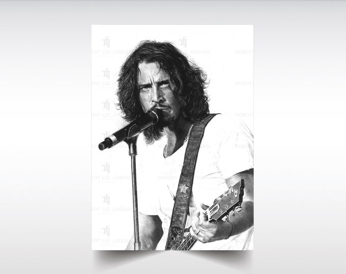 Chris Cornell XL/L poster - Soundgarden poster - Audioslave - Chris Cornell gifts - Wall Art