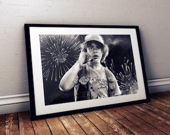 Stranger Things print - Dustin, Gaten Matarazzo print - Upside Down - Stranger Things poster - Birthday Gift