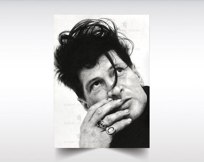 Herman Brood limited edition print - Limited series of only TEN prints of my original pencil portrait, signed and numbered. Tribute art.