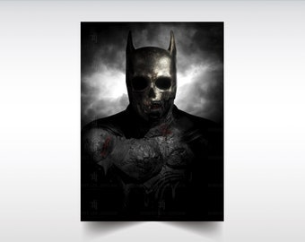 The Demon Within: Bat Demon limited series print, Batman, fanart, comic art, skull art