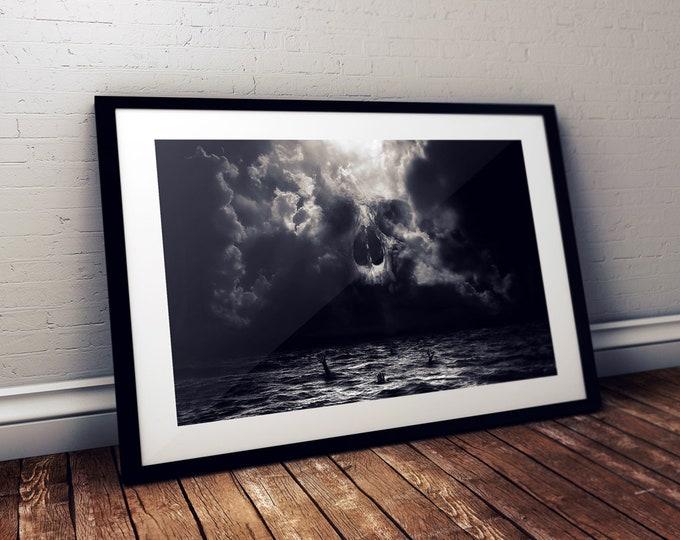 Demon In Me print - signed - Skull - Dark art - Wall Art - Halloween