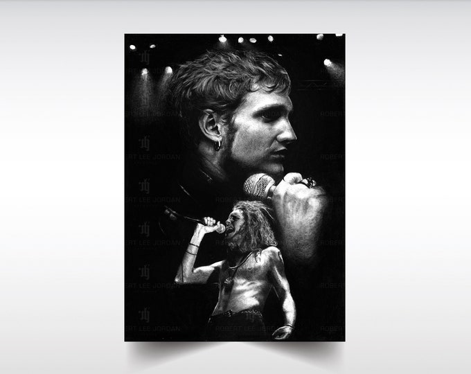 Layne Staley print XL/L/M - Alice In Chains poster - Layne Staley - Alice in Chains gifts - Wall Art