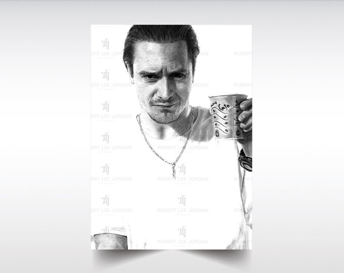 Realistic Mike Patton pencil portrait - Signed print - Faith No More - Realistic pencil art - Mike Patton poster - Gift