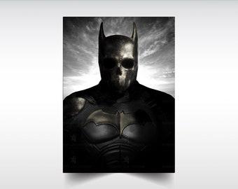 The Demon Within: Dark Knight limited series print, Batman, fanart, comic art, skull art