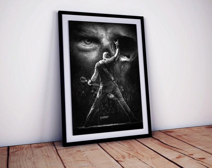 Metallica poster XL  - signed - James Hetfield - Metallica gifts - Wall Art - Heavy Metal