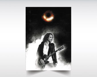 Chris Cornell poster XL/L  - Black Hole Sun - Soundgarden - Chris Cornell gifts - Wall Art