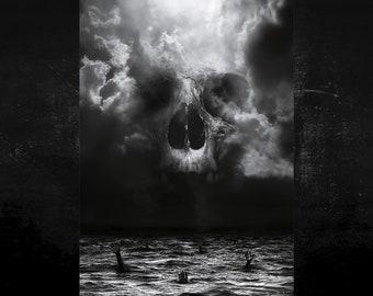 Demon In Me poster XL - Portrait - signed - Skull art - Skull - Wall Art - Interior Deco