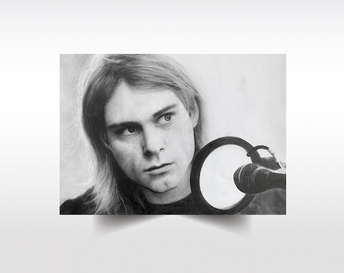 Kurt Cobain limited edition print, Nirvana artwork, Kurt Cobain Tribute Art, Kurt Cobain poster, Nirvana, present, gift, wall art, grunge