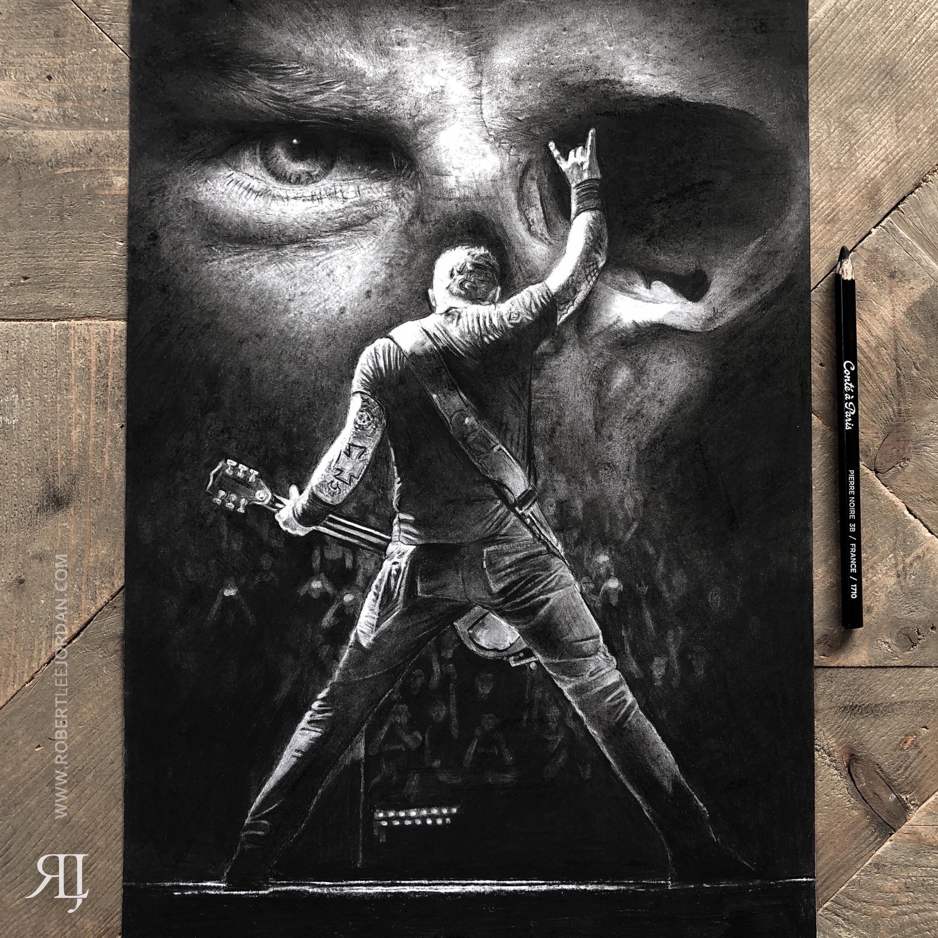 Original metallica james hetfield portrait din a3 realistic pencil drawing art drawing metallica wall art papa het christmas gift