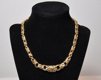 Monet Gold Link Choker Necklace