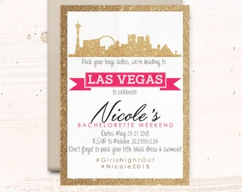 Bachelorette Las Vegas Invitations