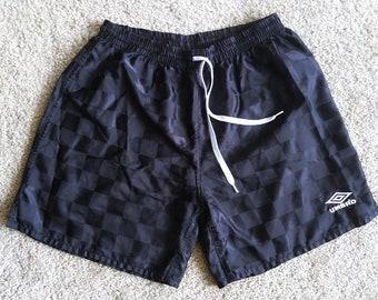 ced17eedd UMBRO 90 s Shorts Men s Size Medium Black Checker-board Polyester Soccer  Shorts