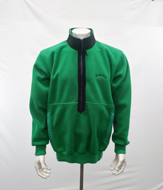 Beaver Canoe Vintage Adult Green Long Sleeve 1/2 Z