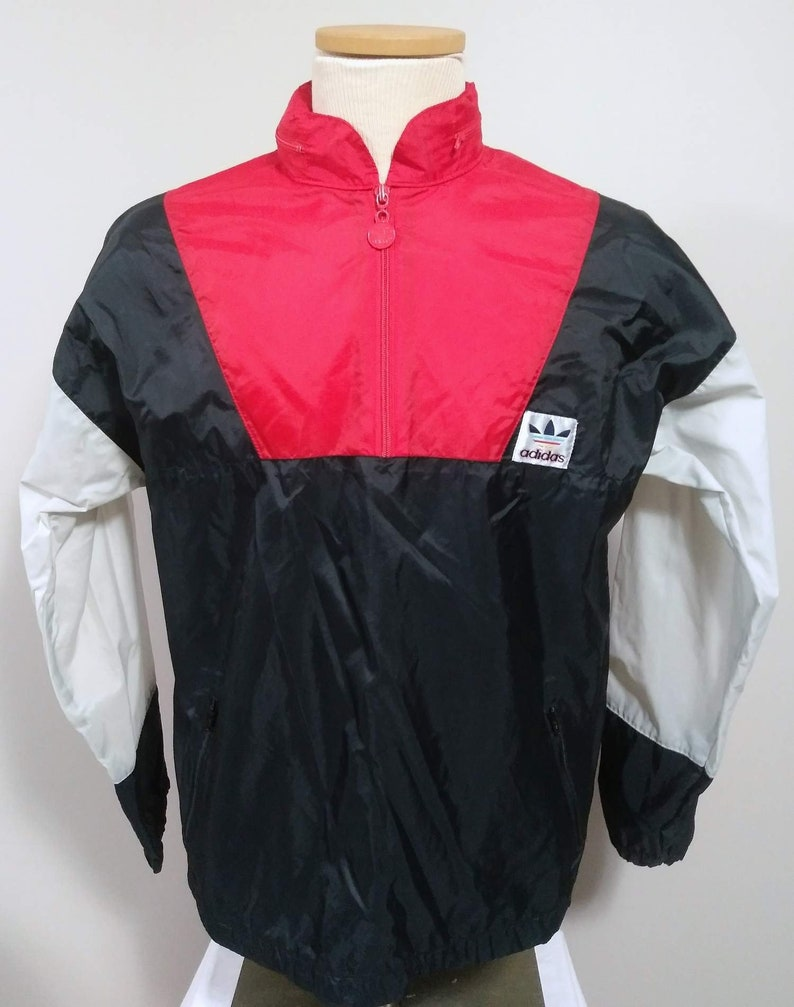 40659f63b68f Vintage Adidas 80 s Nylon Pullover Windbreaker Jacket With