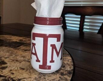 Texas A&M Tissue Jar