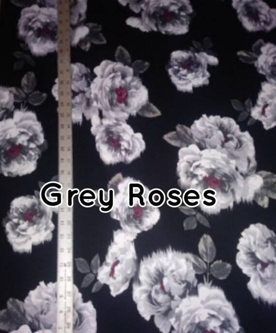 Doublé brossé Poly Spandex tissu - en tissu Floral - vêtements tissu floral - 5 ou 10 yards