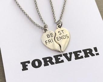 Split Heart Charms Pendant Lot Bulk Charms #36G Zinc Alloy Split Charms Friendship Jewelry Partner Gifts Set of 2 Partners in Crime