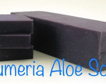 Plumeria Aloe Cold Process Soap Bars