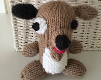 Dog knitted doggie animal stuffed toy