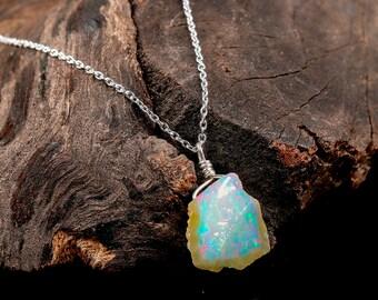 81850edd75d4b Natural Opal Boho Necklace Boutique t