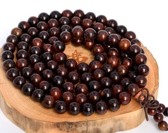 8mm wooden beads smooth mahogany 100 beads