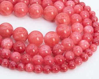 Rhodochrosite Roundelle Shape Beads Rhodochrosite Smooth Beads Bead Size: 6-11mm Rhodochrosite AA Grade Gemstone Beads
