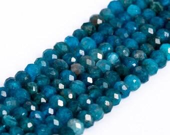 Blue Apatite Bead Apatite Rondelle Bead Strand 13 Inch Blue Apatite Faceted Rondelle Beads Strand 100/% Natural Blue Apatite Faceted Beads