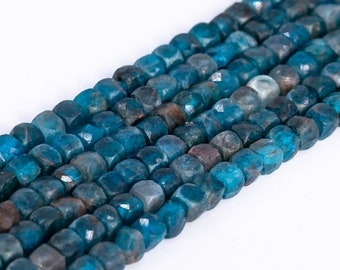 113220 3-4MM Lake Green Apatite Beads Grade A Genuine Natural Gemstone Faceted Round Loose Beads 15.5 7.5  Bulk Lot Options
