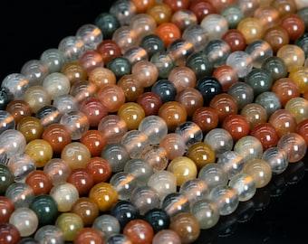 19 Pcs 9-10MM Fully Black Rutilated Quartz Bracelet Grade AAA Genuine Natural Round Gemstone Beads 114988