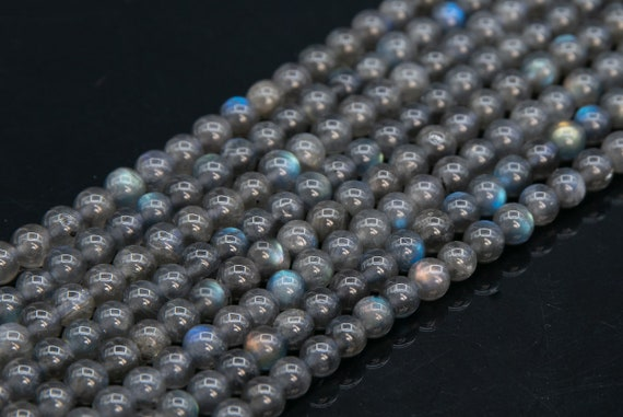 Dark grey round faceted shell beads 8mm Lot of 10 or 18