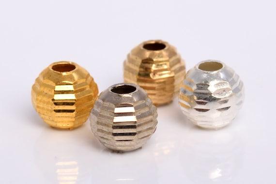 White Gold Black Gunmetal Tone Spacer Beads Light Gold Gold 20 Pcs Round Tube Spacer Beads- Silver