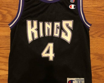 56e67e97cb5a Vtg champion sacramento kings chris webber jersey