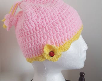 Softpink new crochet hat for a 5-6 year old girl