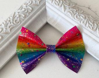 Bold Rainbow Confetti // Cedar Hairbow