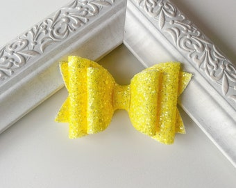 Electric Yellow // Spruce Hairbow