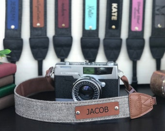 Camera Strap Personalized, Custom Photographer Gift, Cute Camera Straps, DSLR Camera Strap, Personalized Gifts, Photography, #002