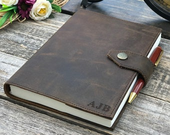 Personalized Leather Journal Notebook Refillable, Antique A5 Notebook Cover, Genuine Leather Travel Journal, Rustic Leather Diary, #013