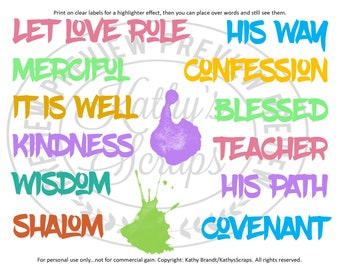 Bible Journal Words 07