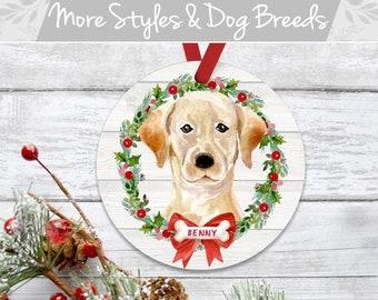 Labrador Christmas Ornament Yellow Lab Art Yellow Lab Ornament 09YLMST Yellow Labrador Retriever Keepsake Labrador Ornament