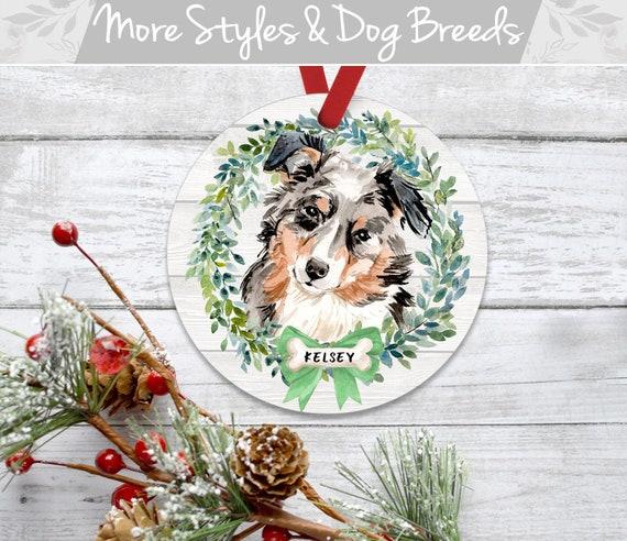 Australian Shepherd Christmas Ornament.Personalized Dog Christmas Ornament Australian Shepherd Ornament Aussie Australian Shepherd Christmas Ornament Personalized Dog Ornament
