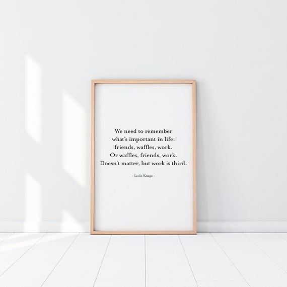 parks and recreation poster leslie knope gifts quote