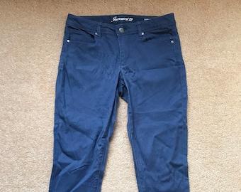 Blue skinny capri jeans